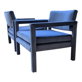 1970s Thayer Coggin Parsons Chairs- a Pair For Sale