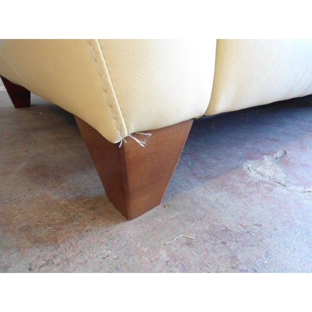Leather Buttercream Daybed Bench - Image 5 of 5