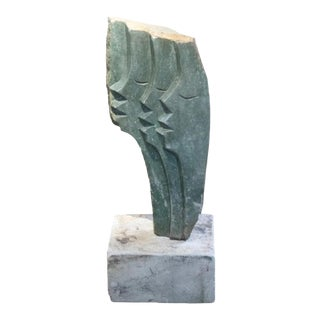 Mid 20th Century Modern Stone Sculpture by C. Marinse For Sale