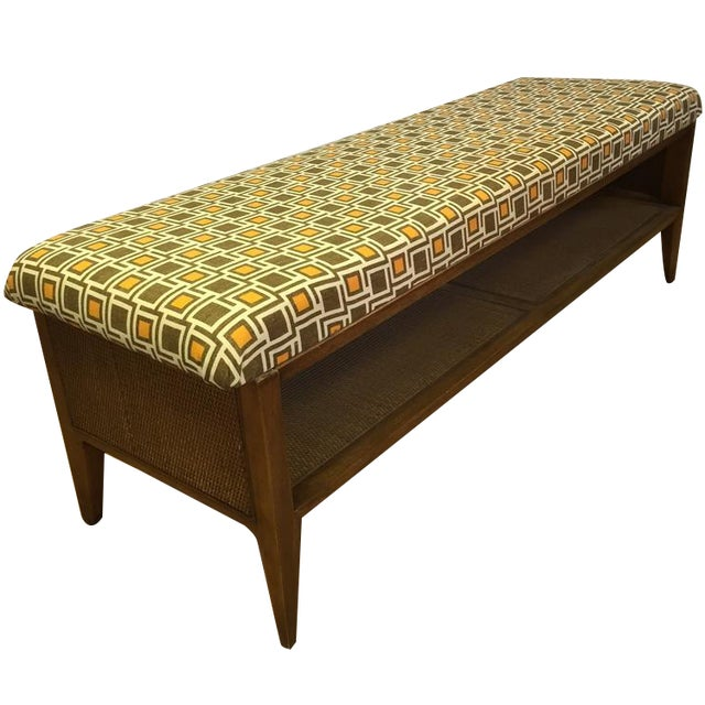 Mid Century Modern Upcycled Bench - Image 1 of 5