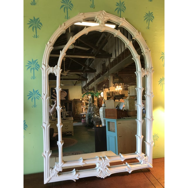 Vintage Coastal Regency Fleur De Lis Mirror For Sale - Image 12 of 12