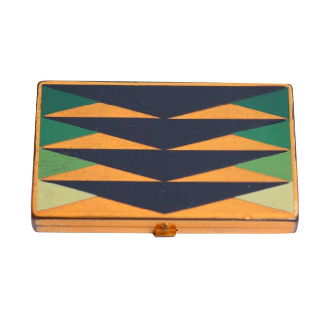 Geometric Art Deco Compact Case For Sale