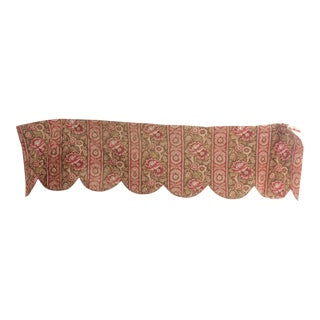 French Faded Floral Printed Cotton Quilted Valance For Sale