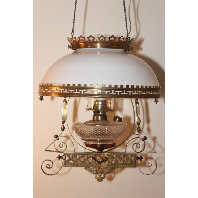 Antique Victorian Electric Oil Lamp Chandelier Image 2 Of 8