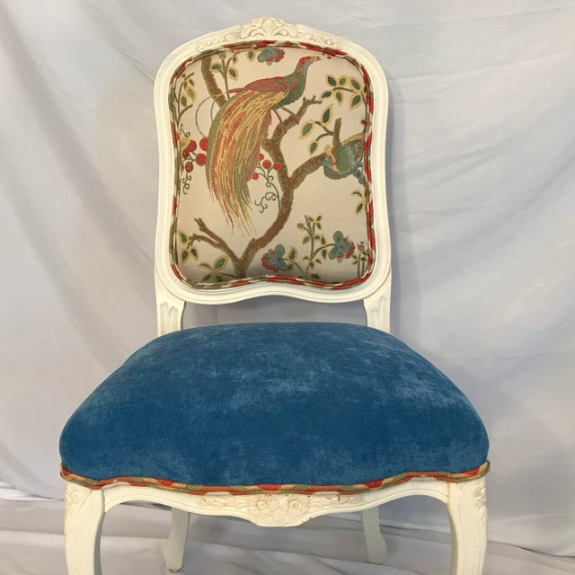Early 20th Century Early 20th Century Louis XV Château d'Amboise Parcel Gilt Velvet & Tapestry Chairs - a Pair For Sale - Image 5 of 9