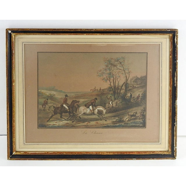 French French Equestrian Lithograph For Sale - Image 3 of 3