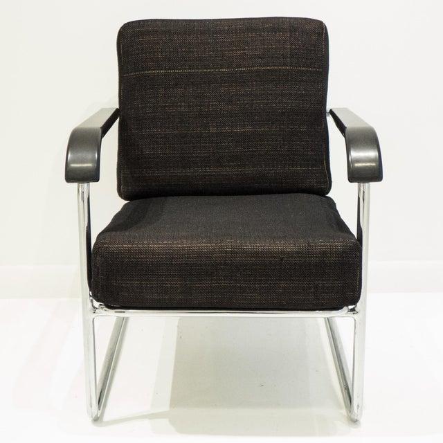 Werner Max Moser Tubular Steel Armchair for Embru Werke - Image 8 of 11