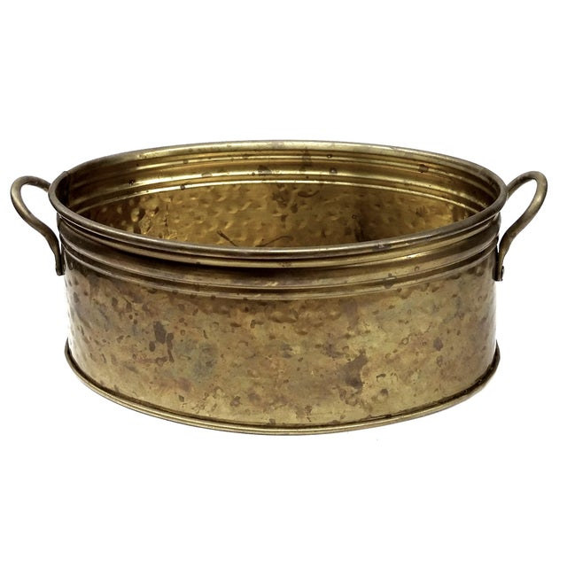 Solid Brass Nijhof Planter Made in Holland - Image 1 of 9