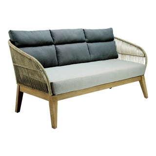 Fuego 3 Seater Outdoor Patio Sofa, Beige For Sale