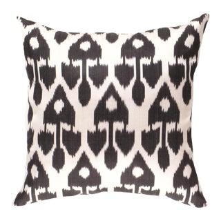Black Color Turkish Silk Ikat Pillow For Sale