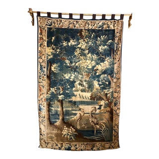 18th Century French Verdure Tapestry With Marsh and Birds For Sale