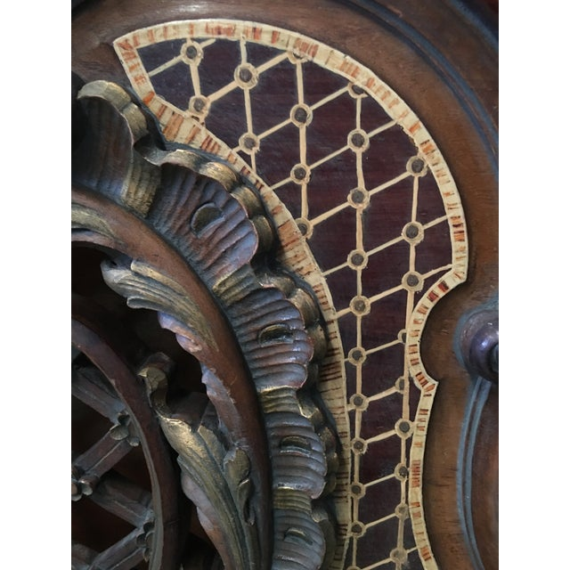 Brown 1930s Venetian Baroque Twin Marquetry & Carved Walnut Beds - A Pair For Sale - Image 8 of 11