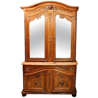 18th C. French Regence Walnut Cabinet For Sale