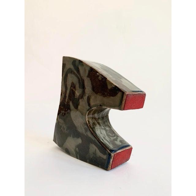 Vintage Ceramic Ikebana Sculptural Vase For Sale - Image 9 of 10