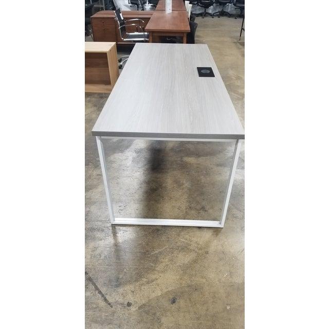Industrial West Elm Industrial Grey Desk For Sale - Image 3 of 6