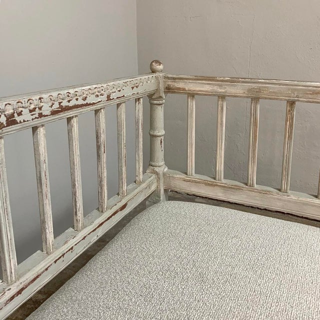 Wood 19th Century Swedish Painted Day Bed ~ Bench For Sale - Image 7 of 13
