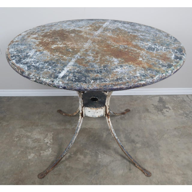 Painted Metal Garden Table For Sale - Image 4 of 8