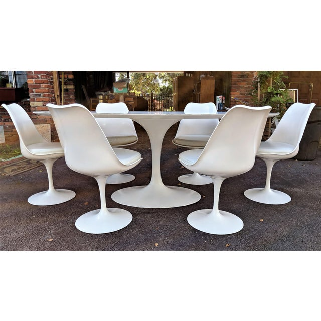 Vintage Eero Saarinen for Knoll Tulip Dining Set - 7 Pieces For Sale - Image 13 of 13