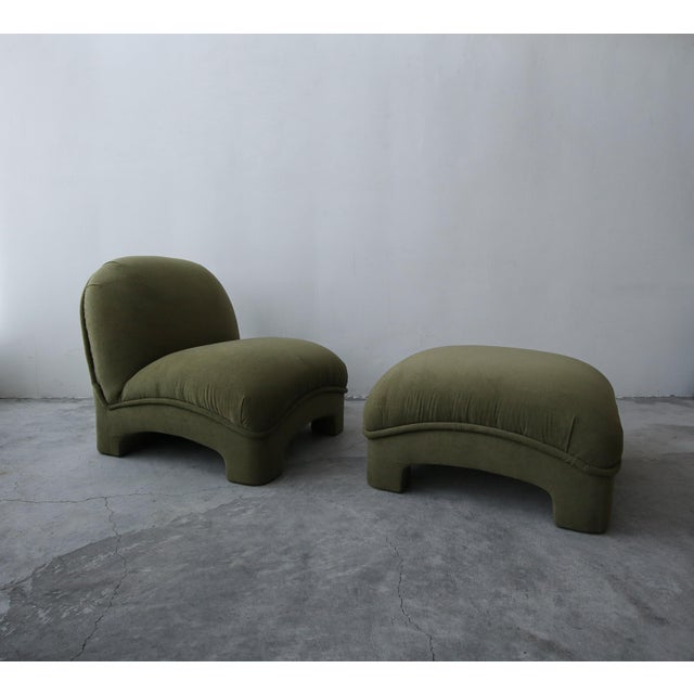 Post Modern Slipper Lounge Chair and Ottoman For Sale - Image 4 of 8