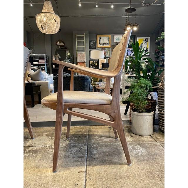 Wood Set of 4 Van Koert Leather Chairs For Sale - Image 7 of 11