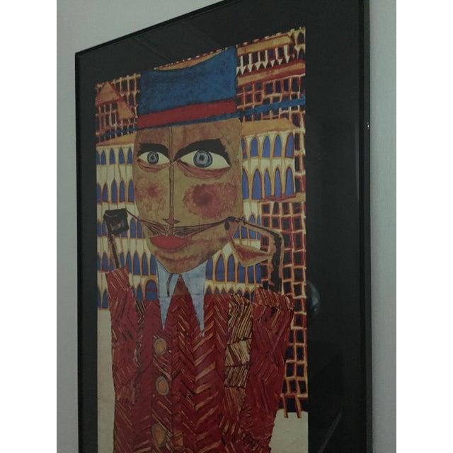 """Vintage 1973 Framed """"Hundertwasser"""" Exibition Poster For Sale - Image 9 of 11"""