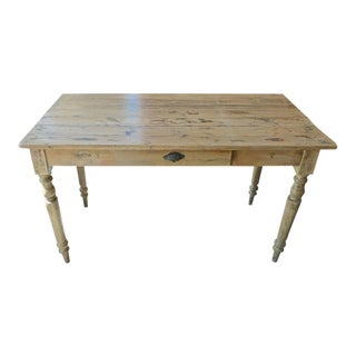 French 19th Century Pinewood Country Breakfast Table For Sale