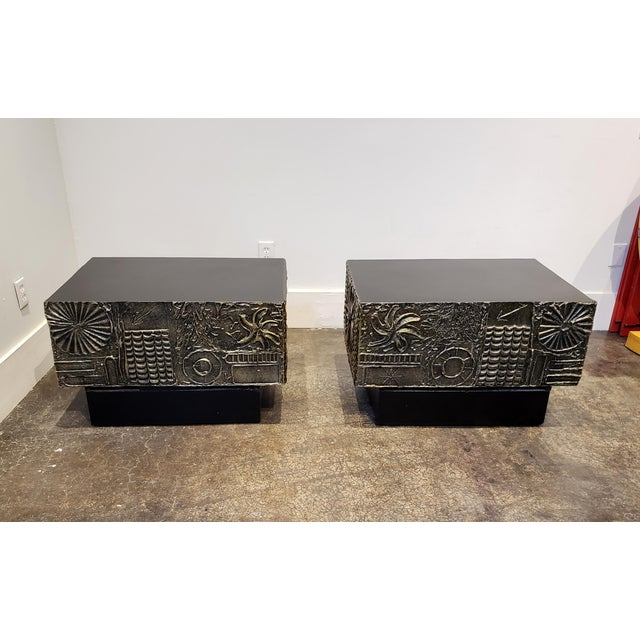 1970s Adrian Pearsall Brutalist Side or Coffee Tables a Pair For Sale - Image 5 of 11