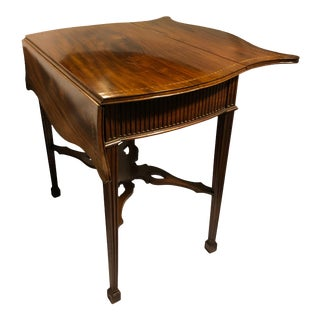Chippendale Pembroke Accent Table With Dropleaves For Sale