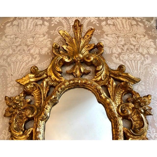 Italian Cornucopia Gilt Wood Mirror, C. 1890-1930 For Sale In West Palm - Image 6 of 13
