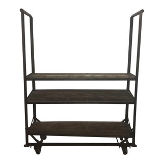 Antique Industrial Cobblers Shoe Rack Shelving Unit For Sale