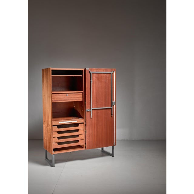 1960s Secretaire with fold out desk, Germany, 1960s For Sale - Image 5 of 6