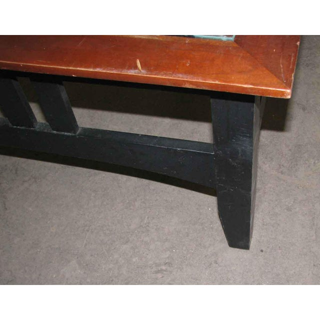 Vintage Square Glass Top Coffee Table For Sale - Image 4 of 6