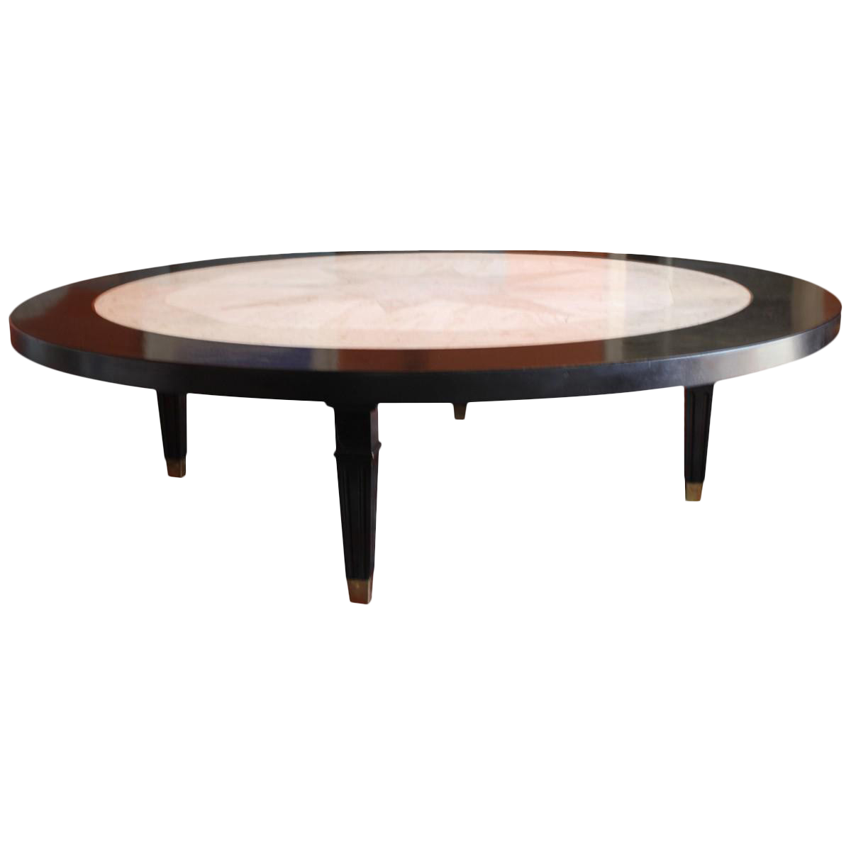Vintage Baker Marble And Wood Coffee Table