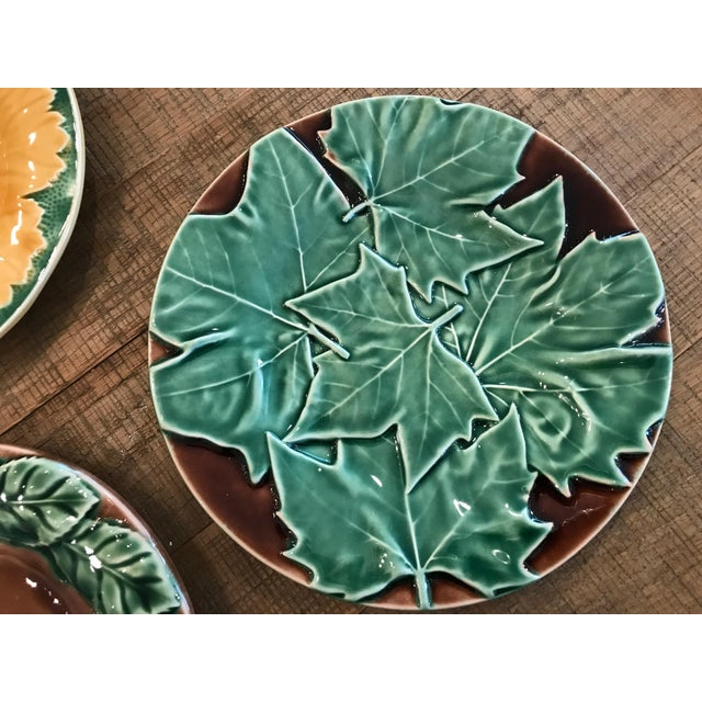 American Classical Leaf Style Dessert Plates - Set of 6 For Sale - Image 3 of 6