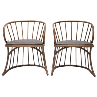 Mid Century Bentwood Chairs - a Pair For Sale