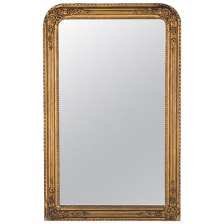 Antique French Napoleon III Gilded Mirror For Sale