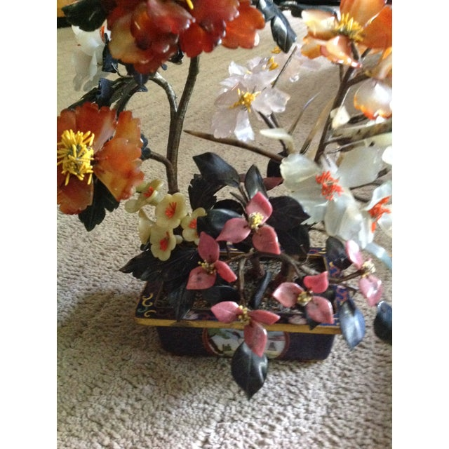 Mid 20th Century 20th Century Shell Stone Japanese Bonsai Flower Sculpture For Sale - Image 5 of 13