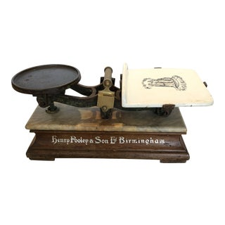 Antique English Grocery Scale For Sale