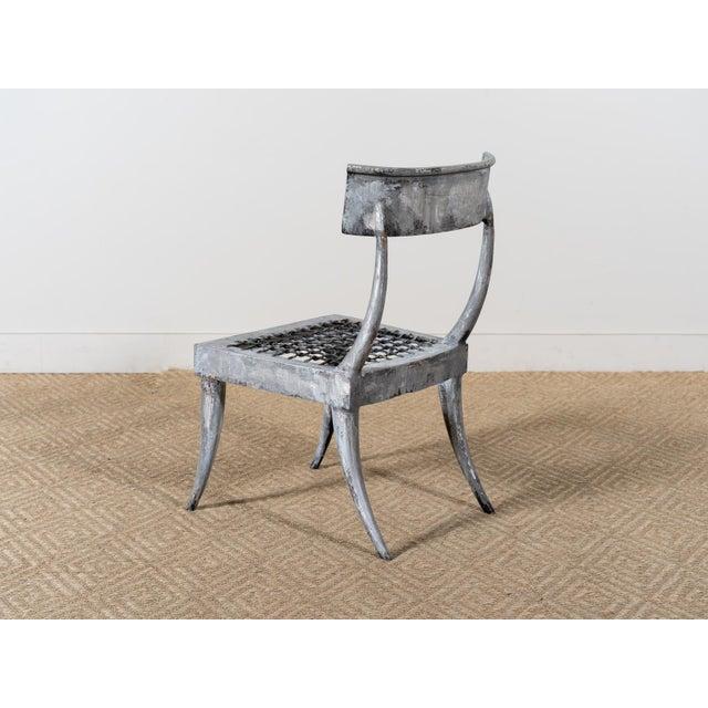 Modern 1980s Vintage Metal Klismos Chair For Sale - Image 3 of 6