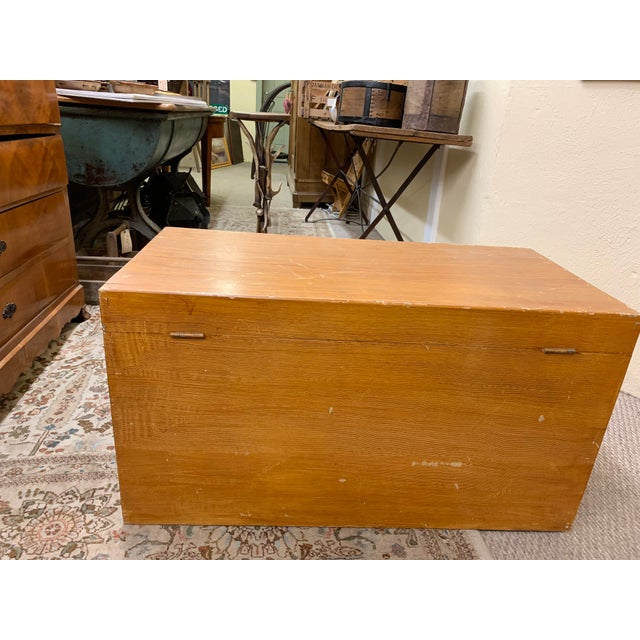 1920s Art Deco Pine Trunk For Sale In Denver - Image 6 of 13