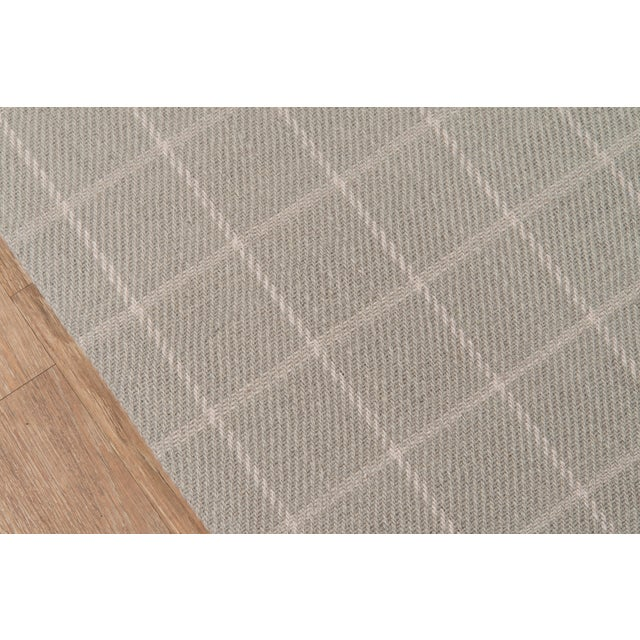 Modern Erin Gates by Momeni Marlborough Deerfield Grey Hand Woven Wool Area Rug - 8′ × 10′ For Sale - Image 3 of 8