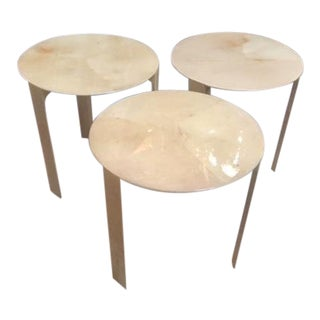 Vintage Contemporary Goatskin Tables (3 Available)