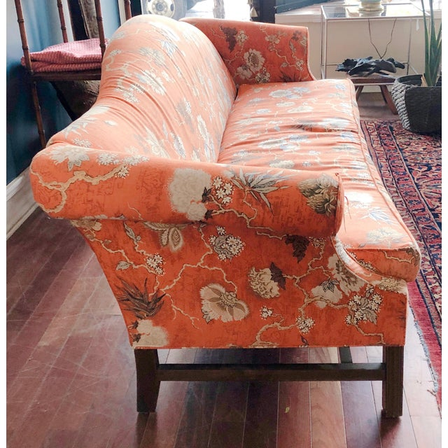 Chinoiserie Vintage Baker Camelback Sofa For Sale - Image 3 of 12
