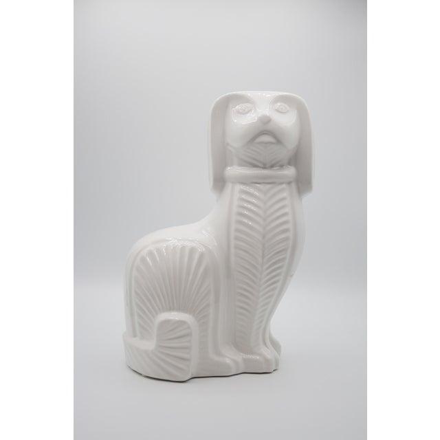 Art Deco Jonathan Adler Style Staffordshire Spaniel Figurine For Sale - Image 4 of 4
