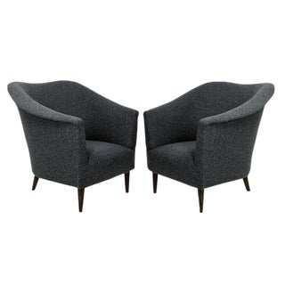 A Pair of Sculptural Armchairs For Sale