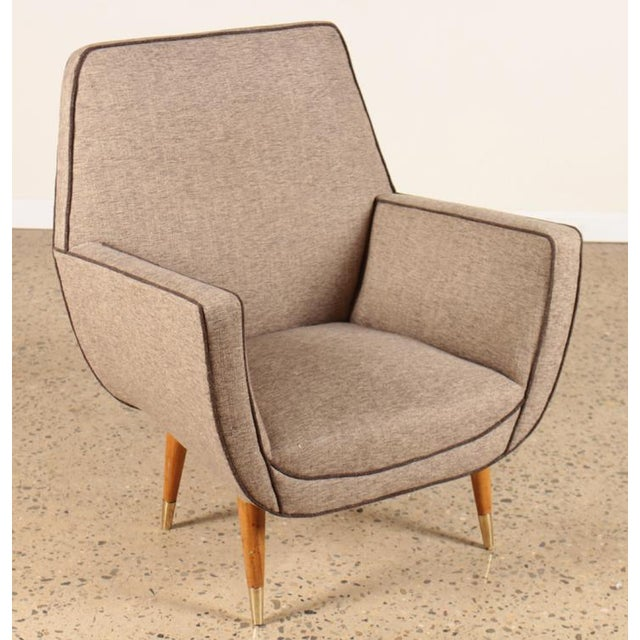 Mid-Century Modern Pair of Italian Mid-Century Modern Chairs For Sale - Image 3 of 6
