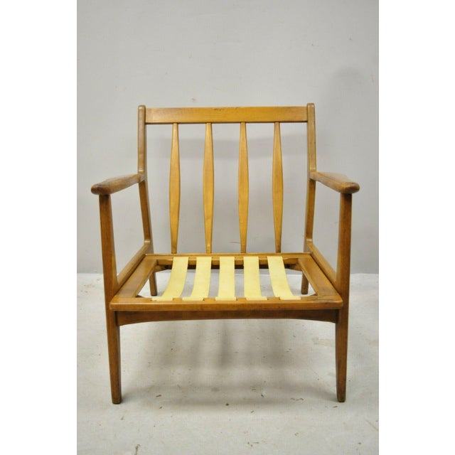 Mid 20th Century Modern Baumritter Walnut Lounge Danish Style Arm Chair For Sale - Image 11 of 12