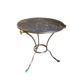 1940s Regency Marble Top Occasional/Side Table For Sale