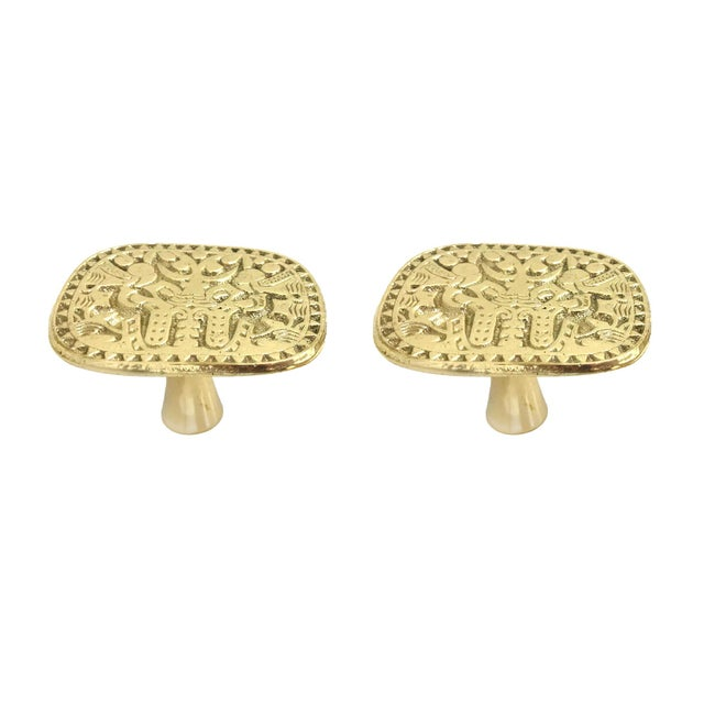 Addison Weeks Michelle Nussbaumer Maya Pull, Brass - a Pair For Sale In Charlotte - Image 6 of 6