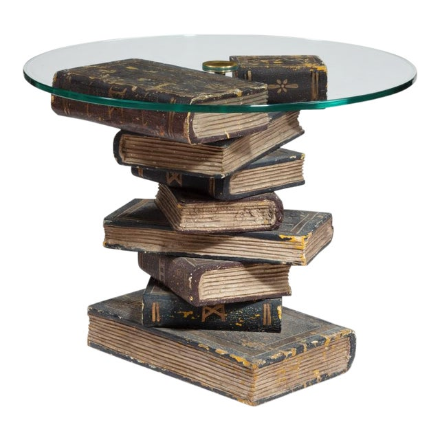 Carved Wood Book Table, Circa 1930 For Sale